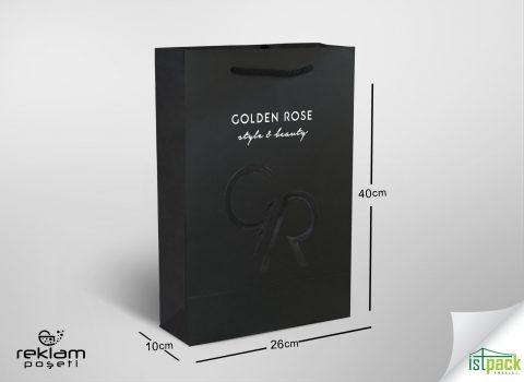Golden Rose için ürettiğimiz karton poşet
