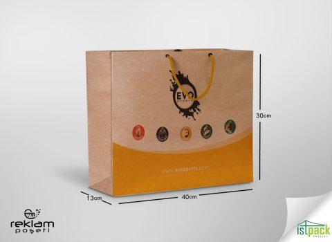 Evo için ürettiğimiz karton poşet